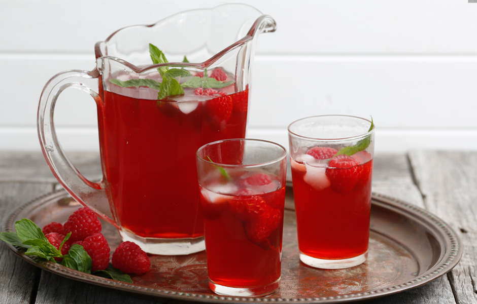 Raspberry-iced-tea