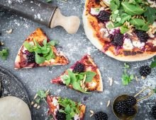 Blackberry, Rocket & Goat's Cheese Pizza
