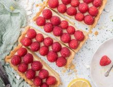 Raspberry White Chocolate Lemon Tart